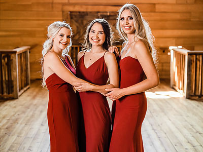 Thread Bridesmaid Inspiration - Burgundy