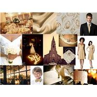Wedding Inspiration: Gold Wedding Dream Styleboard