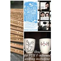 Four ideas for fun and informal wedding invitations and save-the-dates