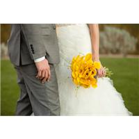 Real Wedding: A Yellow and Gray Themed Wedding! We Love It!