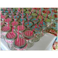 DIY Wedding Idea - Mason Jars with Cupcake Liners