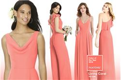 Budding Trend: Vibrant Coral Bridesmaid Dresses for Spring